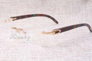 Directo de fábrica gafas de mercancías de la calidad gafas redondas de alta calidad 8100903 gafas de color pavo real de la moda gafas de madera Tamaño: 54-18-135 mm