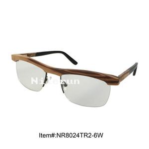 classical metal wood optical eyewear glasses