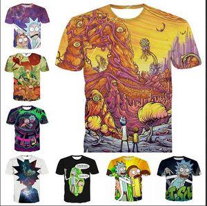 Ropa de moda Rick And Morty Camiseta Casual Mujer Hombre 3D Camiseta Harajuku camiseta Estilo Verano Tops 2017.8.13.04