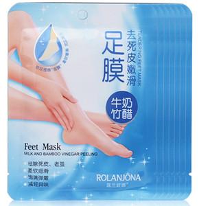3packs = 6pcs ROLANJONA maschera per i piedi Baby Foot Peeling Renewal Maschera per il piede Rimuovi la pelle morta Liscio Calzini esfolianti Calzini per la cura del piede Per la pedicure