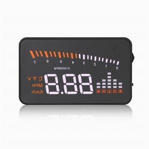 """X5 Car HUD 3 """"شاشة متعددة الرؤوس محمولة على مركبات متعددة الوظائف للسيارات الزجاج الأمامي متوافق مع سيارات OBD II EOBD"""
