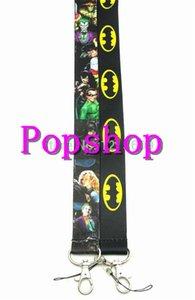 50PCS Super hero League Batman key lanyards id badge holder keychain straps for mobile phone Free Shipping