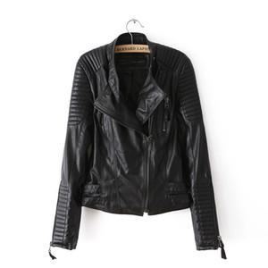 Мотоцикл PU кожаная куртка дамы осень пальто молния прохладный пальто женщины байкер топы верхняя одежда Марка осень весна одежда повседневная одежда