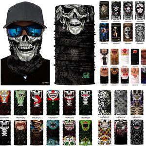 Función del diseño del cráneo de múltiples máscaras Bandana del deporte del esquí motorista de la motocicleta de la cara de la bufanda al aire libre Máscara facial diadema cuello polaina