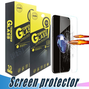 Für iPhone 12 11 Pro Max MAX Tempered Gla Screen Protector Film für iPhone X XR XS MAX 8 7 6S PLUS HUAWEI P30 Lite Aristo 2 J7 J7 J6 STYLO 5
