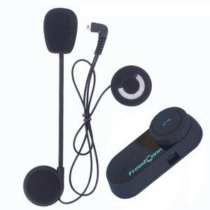 FreedConn 1Pcs BT Bluetooth Moto Casco Citofono Interphone Wireless Interphone 800M 2 Riders Cuffie Intercom con Radio FM