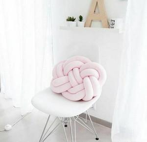 46 cm * 30 cm Nordic Knot Kissen 100% Baumwolle Knot Ball Kissen Baby Schlaf Puppen Plüsch Spielzeug Für Kinder Sofa Kissen