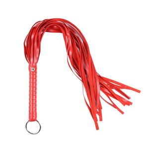 1pc 65 cm rosso flirt cavallo frusta sesso sculacciata knout cuoio dell'unità di elaborazione frusta con spada manico sferza feticcio flogger adulto prodotto del sesso per le coppie