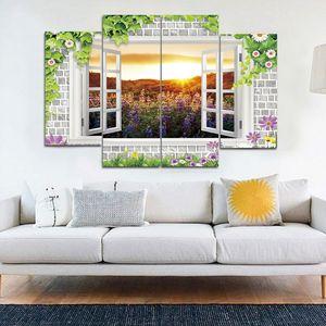 Fuori dalla finestra Beautiful Scenery Frameless Paintings HD Print Painting