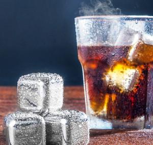 2.7cm Barre De Glaçon Whisky Vin De Bière Pierres Glacière Glacière En Acier Inoxydable Refroidisseurs Pierre De Pierre Alcool Alcoolisé Boissons Refroidi Bar En Métal Refroidissement