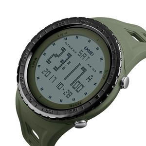 SKMEI 1246 Мужские спортивные часы обратный отсчет Chrono двойное время EL Light цифровые наручные часы 50 м водонепроницаемые Relogio Masculino