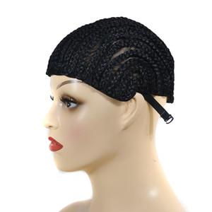Сара регулируемый парик Cornrow плетеный волос шапки с клипами легко шить в эластичный купол крышка бесклеевой сетки для волос нейлон плетеный