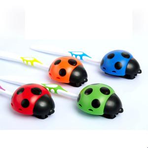 Atacado-1pc Cartoon Animal Escova Holder Novidade Banheiro Set Sanitária Kids Wall Mounted Toothbrush Holder Com Ventosa