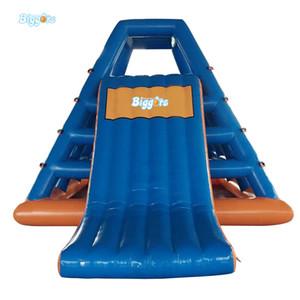 EN14690 e CE certificou o jogo inflável da água flutuante Corrediça de água para o parque de diversões com bomba de ar