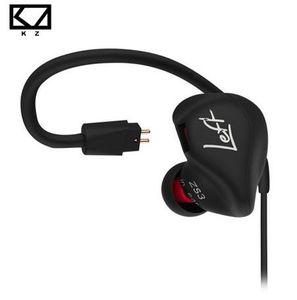 KZ ZS3 Ergonomische Abnehmbare Kabel Kopfhörer In Ear Audio Monitore Geräuschisolation HiFi Musik Sport Ohrhörer Mit Mikrofon