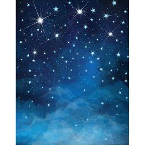 Blue Night Sky Glitter Stars Bambini Fondali Foto Vinile Bambini Fotografia Sfondo Neonato Photoshoot Puntelli