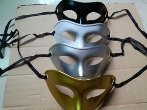Unisex Masquerade Venetian Mask Mardi Gras Party Máscara Decoraciones de disfraces Surtido de color (Oro Plata Negro Blanco) Talla única Más