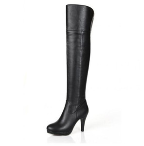 Women Genuine Leather Platform Over Knee Thigh High Heel Boots Size Lady Boots US 5-8.5