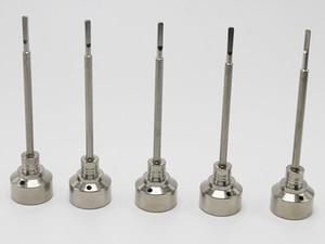G2 Titanium Carb Cap Tool Domeless Titanium Nail TitaniumTi Nail 14mm 18mm Titanio Dab Tool con Carb Cap Dabber Grado 2