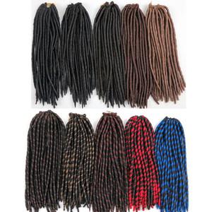 합성 크로 셰 뜨개질 머리카락 머리 가짜 loces Brading hair 벌크 12inch 24Strands Kanekalon 도매 헤어 익스텐션 더 많은 색상
