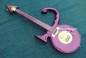 Nouvelle marque de guitare électrique de marque Prince symbole guitare violette couleur
