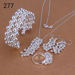 совершенно новый стиль смешивания той же цене, женские стерлингового серебра гальваническим комплекты ювелирных изделий, способа 925 серебряное ожерелье браслет серьги кольцо набор GTS39a