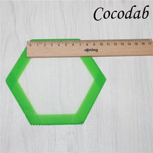 Küçük Altıgen mat pad Gıda sınıfı Silikon pişirme mat dabber levhalar yağı konteynerler için Silikon damızlık Araçları Silikon ...