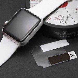 Para iwatch cobertura completa protetor de tela de vidro temperado para apple watch 38mm 42mm borda preta protetor de vidro temperado para apple watch