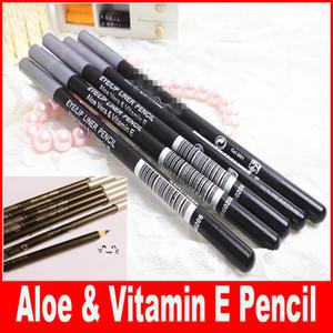 Nuevos cosméticos profesionales Duo Way Eyeliner / Eye Lápices para cejas con Aloe VeraVitamin E marrón / negro envío de DHL gratis