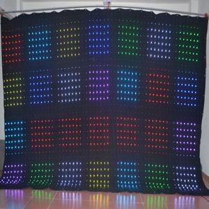 P6 3M * 4M DJ Vision Telón LED Video Cloth Etapa de iluminación LED Video Curtain LED Video Screen Control de PC con Flight Case