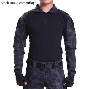 HOT 2017 En Plein Air Commando camouflage Frogloks Suit sport tactique Combat Uniforme armée des hommes militaire Cargo Randonnée Montez Tshirt