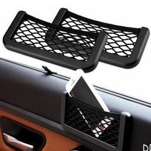 Asiento universal para automóvil Lado trasero Bolsa de almacenamiento en red Soporte para teléfono Organizador de bolsillo M00017 VPWR