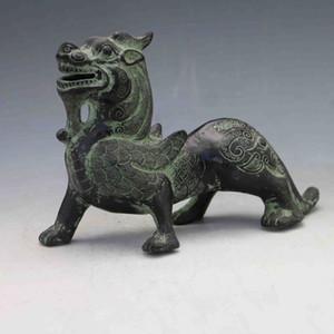 Statues de dragon volant sculptées à la main en bronze chinois X0155