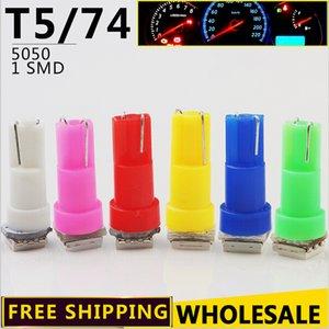 20 pcs par sac T5 5050 Instrument Cluster Lampe Voiture Tableau de Bord Lumière Indicateur Lumières LED Intérieur Lumière Car Styling 1 SMD