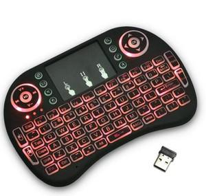Rii i8 retroiluminado remoto Air Mouse mini teclado inalámbrico con touchpad control de luz de fondo para Android Smart TV Box MXQ M8S X96 X92 T95 HTPC PS3