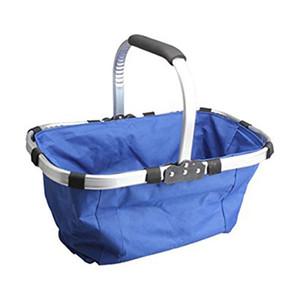 All'ingrosso impermeabile pieghevole ecologico riutilizzabile Shopping Bag Grocery Basket Blu