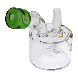 Handmade glass water pipes with glass bong 10 hight smoking water pipe green color mouth Glass water pipe