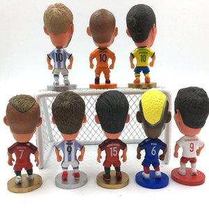 Soccerwe Aguero Soccer Kane Figurines de basket-ball Messi Martial Mbappe Zlantan Hear BRUYNE DE KLOPP Figurines 6.5cm Nouveaux choix de poupées FOGXK