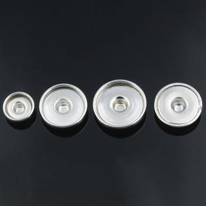 Vente en gros 100pcs / lot Snap Bijoux 18mm Ginger Snap Base Accessoires interchangeables pour Bijoux Bouton Base pour faire Snap Button ZM032