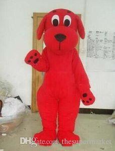 Красный пес Клиффорд костюм талисмана, подходит для различных фестивалей
