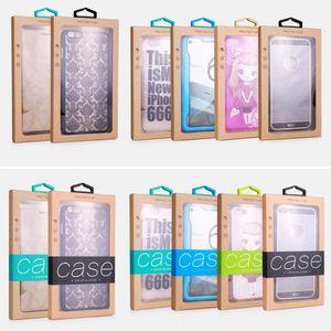 الملونة تصميم شخصية فاخرة PVC نافذة التعبئة والتغليف حزمة ورقة مربع للهاتف المحمول قضية الهاتف الخليوي هدية حزمة الملحقات DHL