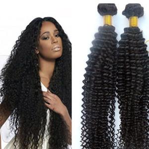 Virgin 브라질 머리 뭉치 인간 머리카락은 곱슬 곱슬 함을 만든다 Wefts 8-34inch Unprocessed 인도 페루 말레이시아 염색 가능 머리 확장
