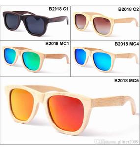 Hot selling bamboo sun glasses bamboo frame polarized sunglasses men Wooden glasses color lens sunglasses womens Wooden sunglasses unisex