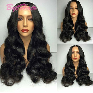 Bythair Full Lace Human Hair Wigs For Black Women 180% Density Glueless Body Wave Lace Front Human Hair Wigs High Density Wavy Wig