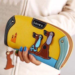 Cão das mulheres dos desenhos animados bolsa bolsa designer carteiras famosa marca mulheres carteira longo dinheiro clipe dólar preço zipper moeda bolsos
