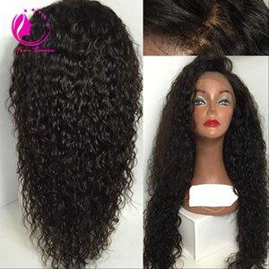 """Unverarbeitete 4 """"x 4"""" Silk Top volle Spitze Echthaar Perücken verworrene lockige Jungfrau peruanischen Lace Front Perücke mit Seide Basis Baby Haar"""