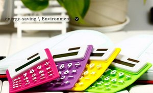 Carry Korean colorful silicone solar calculator   computer keyboard   collapsible shipping