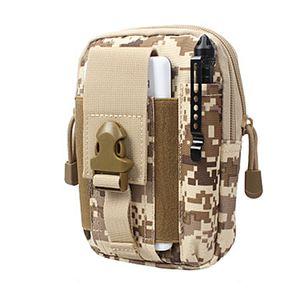 D30 Tactical Molle multifunción Bolsa de cintura Hombres / mujeres Deporte al aire libre Paquete de la cintura Monedero Caja del teléfono móvil 1000D CORDURA