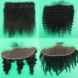 Gerade Körper Welle lose tief verworrene lockige verworrene gerade brasilianische Menschenhaar Spitze frontal 13x4 Spitze Frontal Schließung Haar