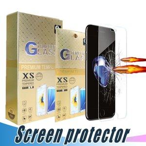 Écran en verre trempé protecteur Incassable 9H 2.5D Film pour l'iPhone 12 11 pro max XR XS MAX 6 6S 7 8 Plus avec boîte de papier